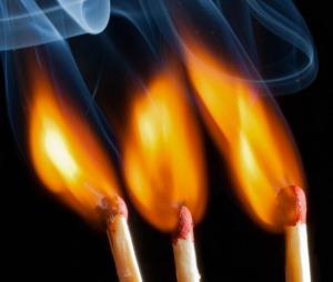 Tre fiammiferi